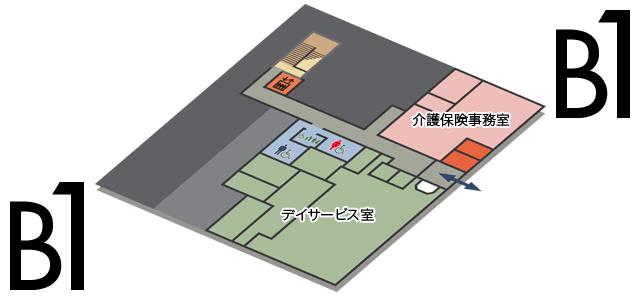 地下1階案内図|施設案内